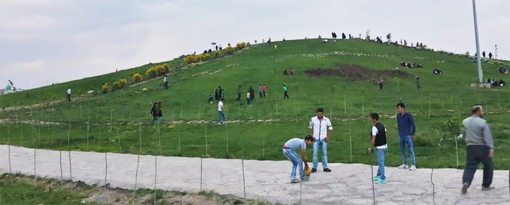 تصویر فعلی تپه باستانی اقبالیه
